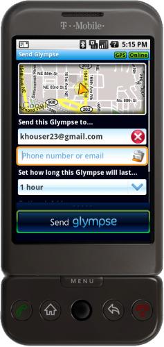Glympse Navigacija za Android