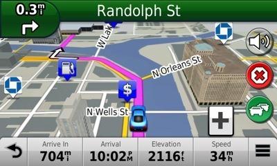 GPS Mape 3d zgrada funkcija auto navigacija