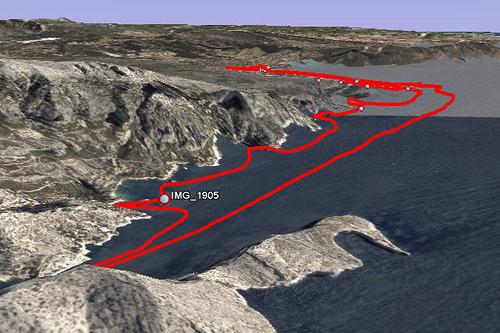 3D prikaz GPS rute na Google Earth