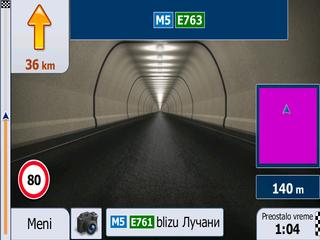 iGo Primo 2.4 u tunelu