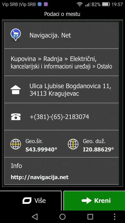 Poi tačke navigacija.net