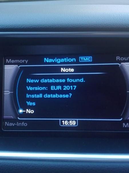 Audi MMI 3G Basic fabričke navigacije mapa Srbije 2017