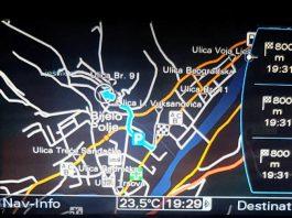 Najnovija mapa 2017 za Audi MMI 3G High fabričke navigacije