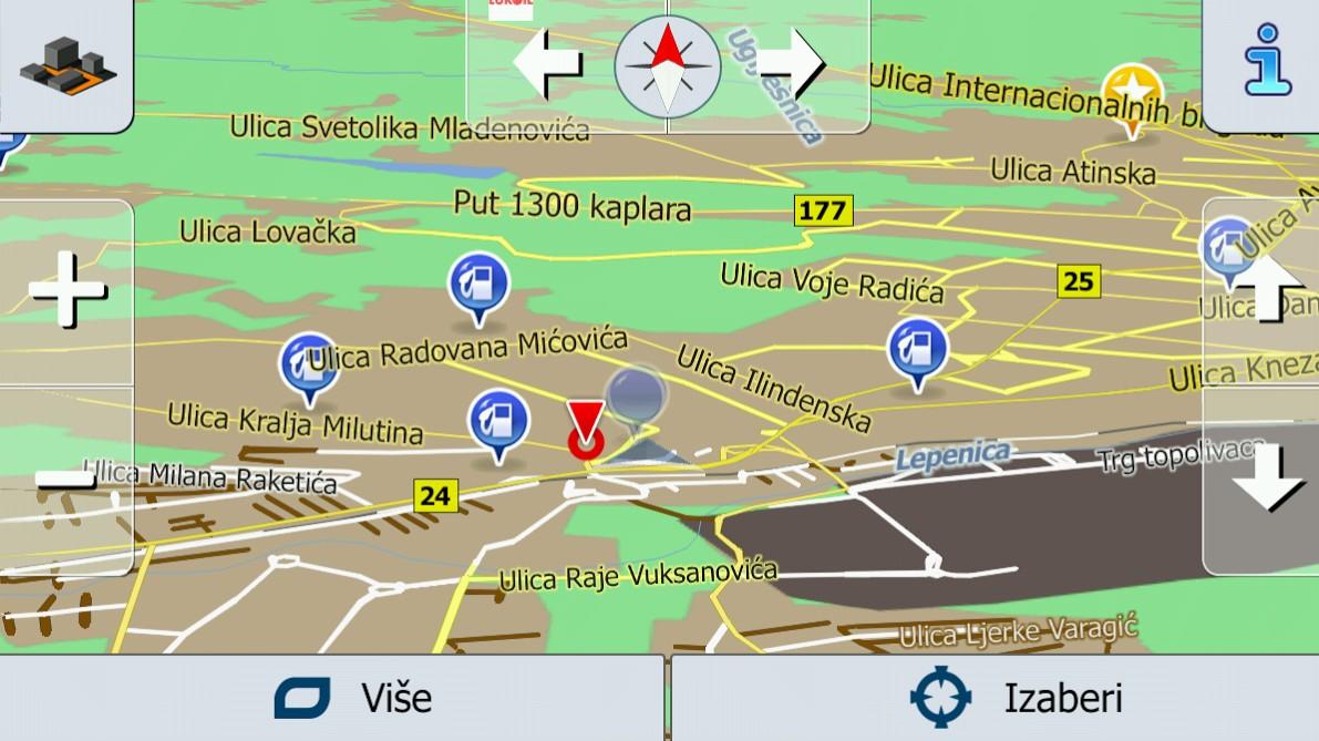 Mapa Srbije i Evrope za iGO Navigacije TomTom