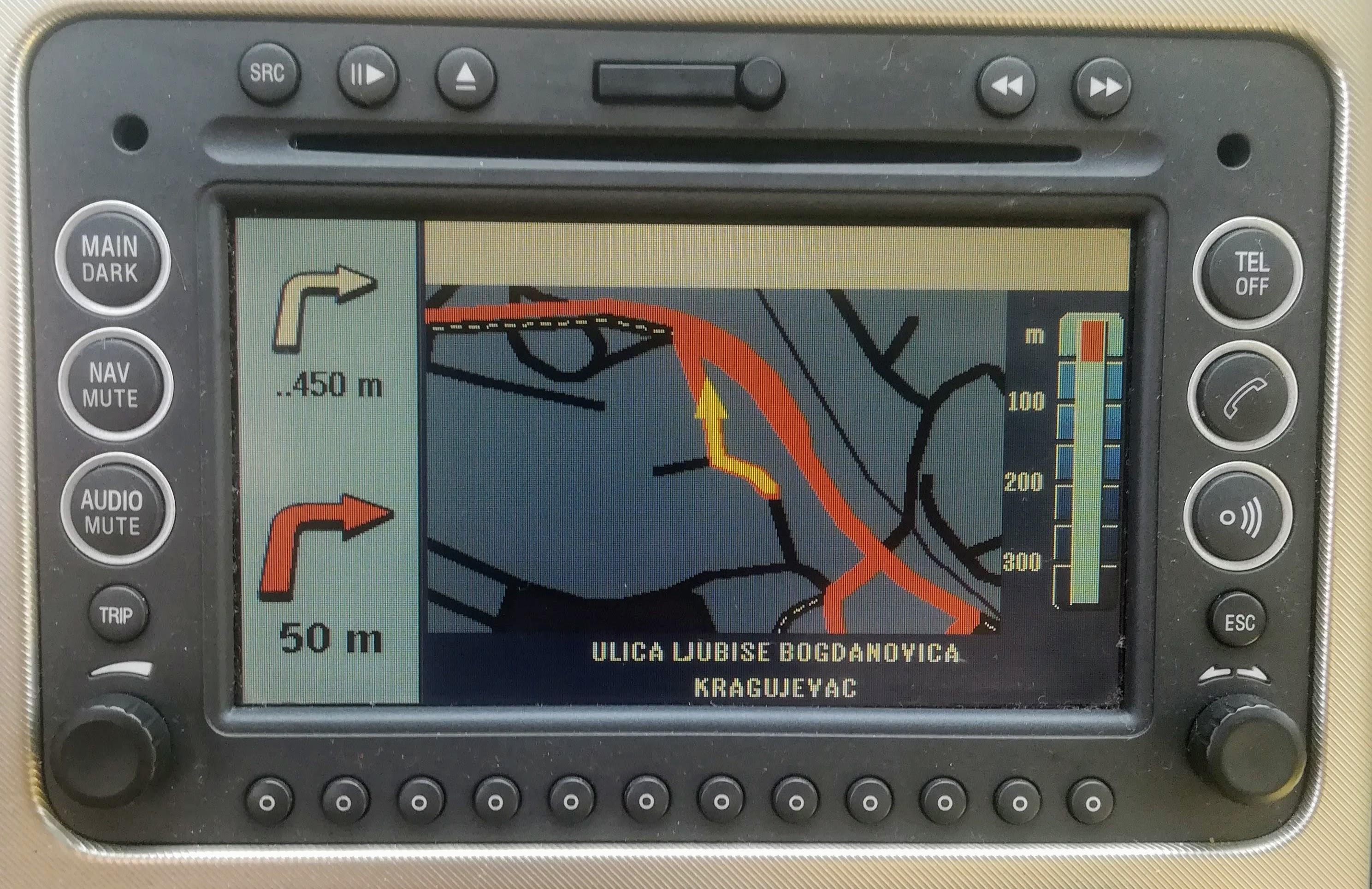 mapa Srbije i Evrope za Connect Nav NIT G2 navigacije