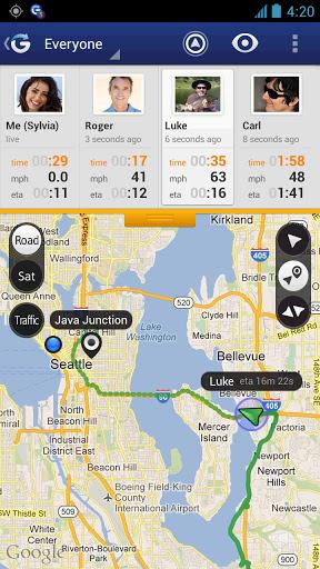 GPS Praćenje - Glympse