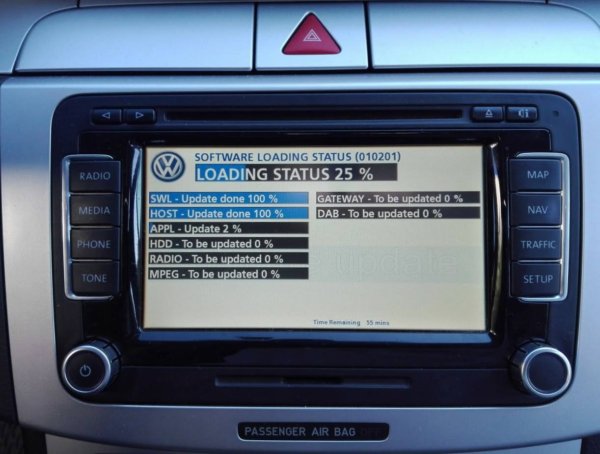 Mape za Volkswagen fabričke navigacije