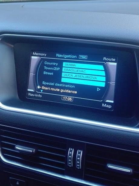 Audi MMI 3G Basic fabričke navigacije