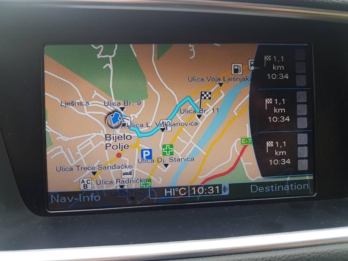 Najnovija Mapa Evrope 2020 Za Audi Mmi 3g High Fabricke Navigacije