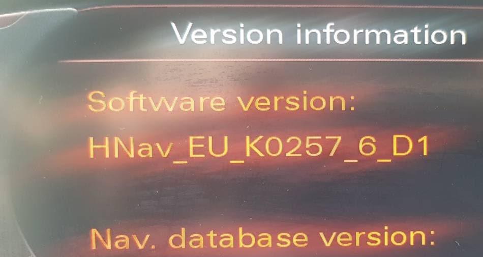 Audi MMI 3G fabričke navigacije firmware