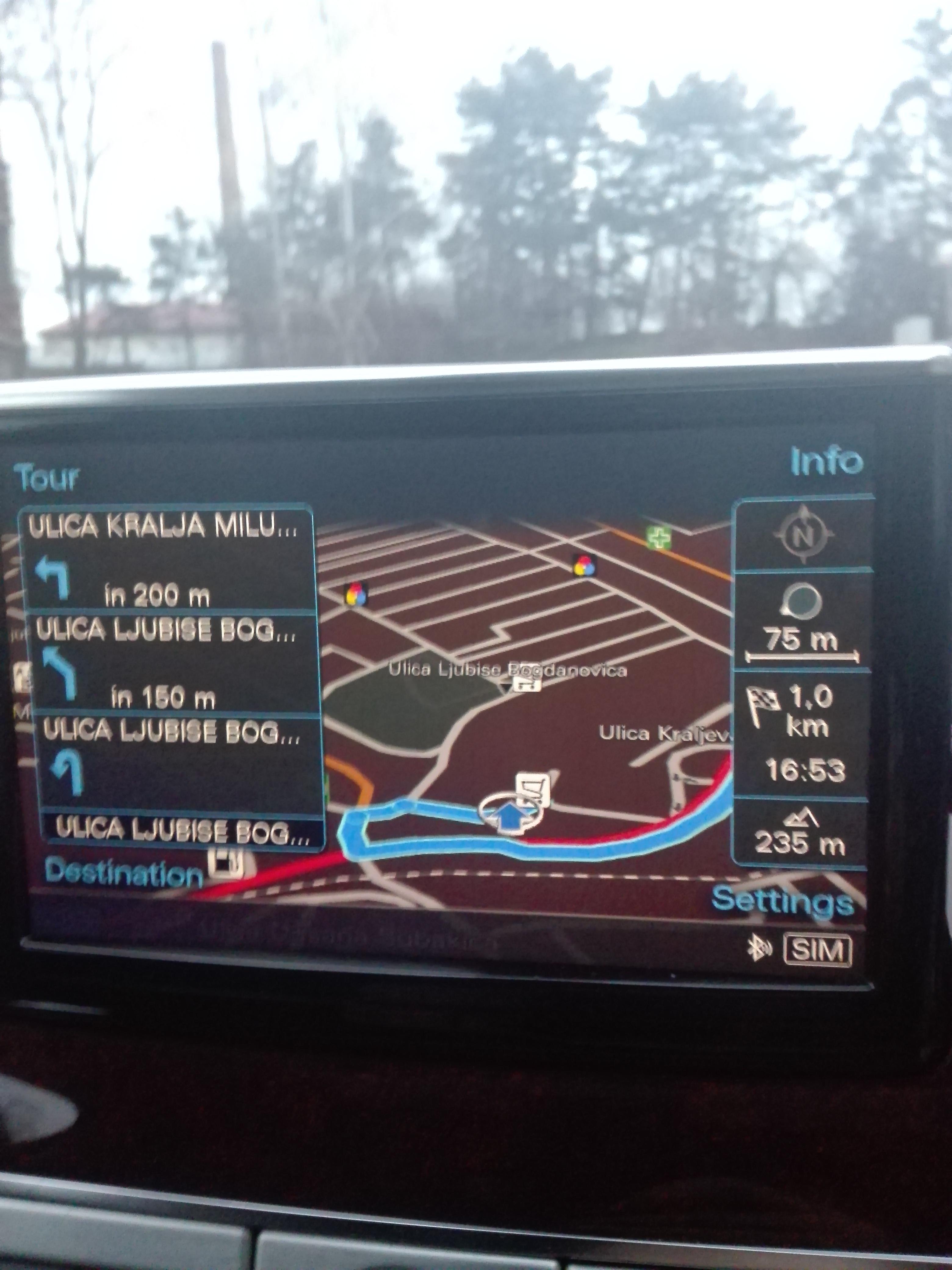 Audi MMI 3G Plus fabričke navigacije