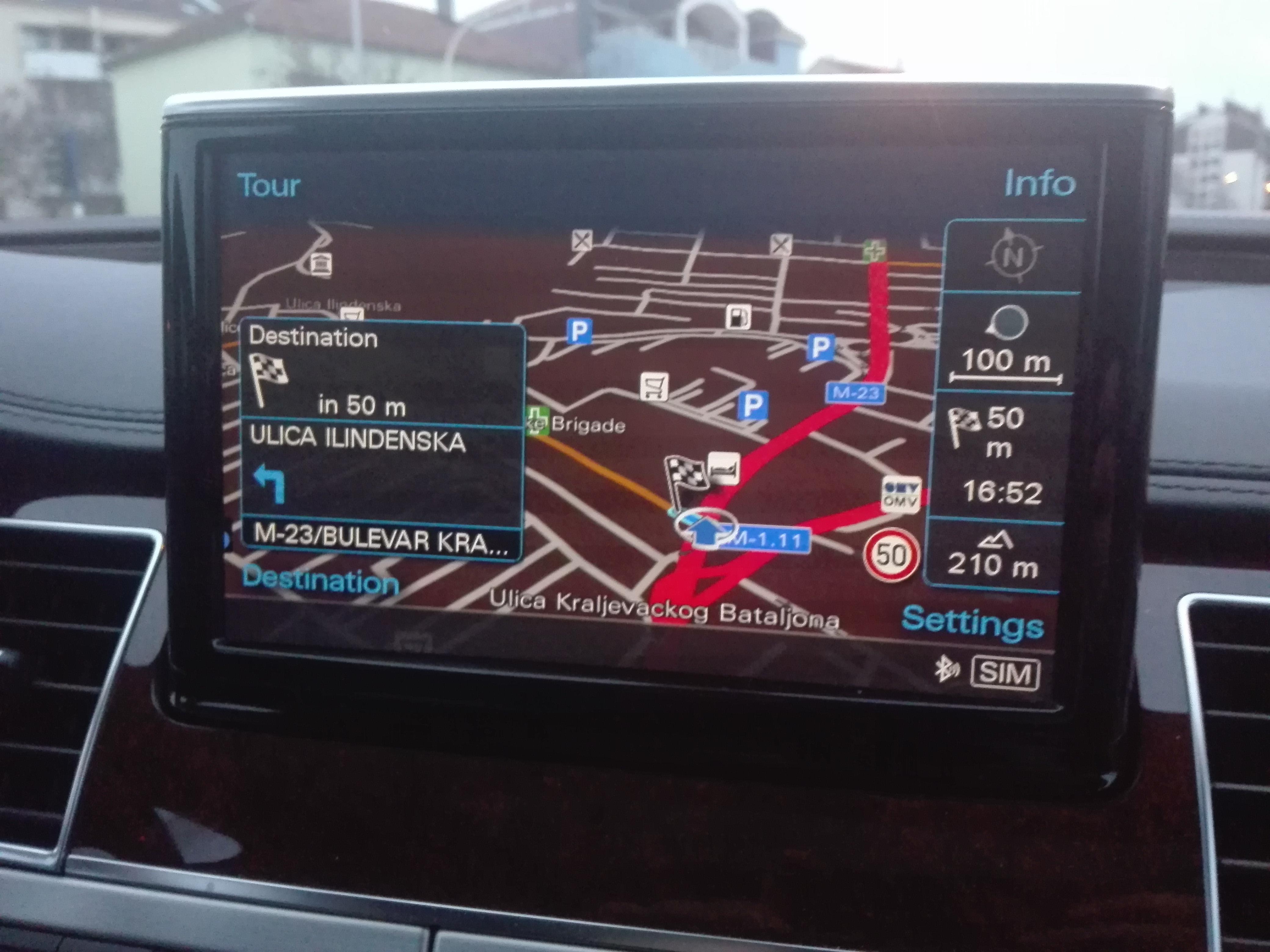 Najnovija Mapa Evrope 2020 Za Audi Mmi 3g Plus Fabricke Navigacije