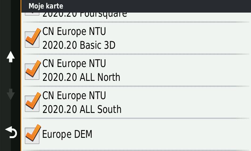 najnovije mape za Garmin navigacije Evrope 2020.20